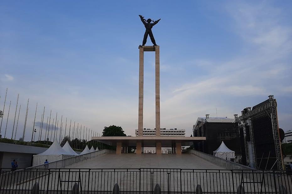 Patung pemuda Jakarta. LEBIHDALAM/Rendy A. Diningrat