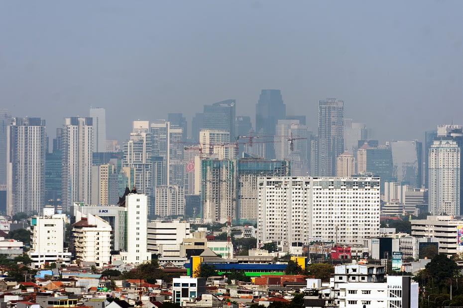 Gedung-gedung pencakar langit, Jakarta. MUKTI Mulyana
